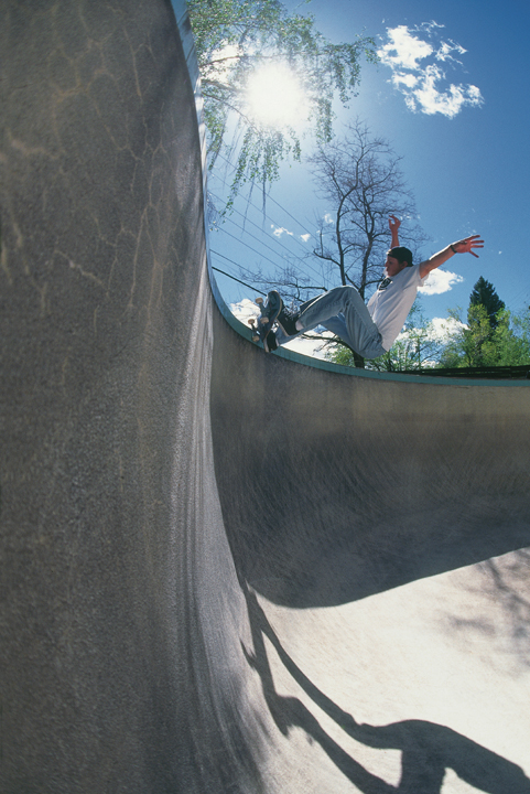 Kevin McGuire at Plumb Pit, we bailed and skated it for about a solid 4 weeks. Then a realtor showed up and they filled it with water within a day. It hadn't been skated, to my knowledge, 20 years prior to that.