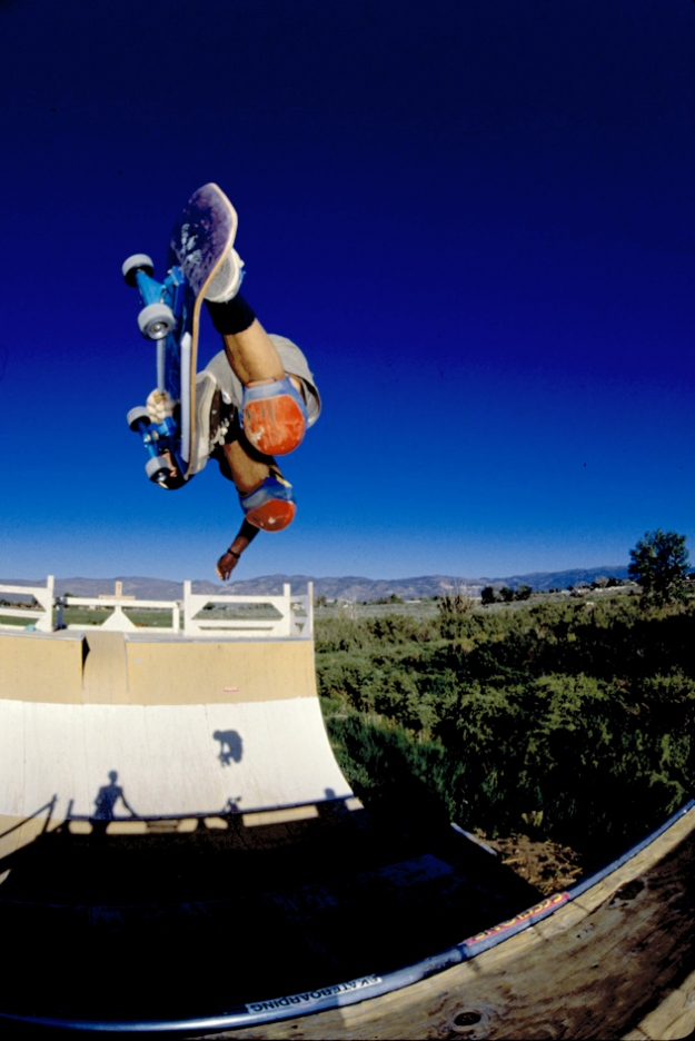 Shaun Palmer with a classic Method in 1988. At the famous Matt Marcewicz Blue Ramp.