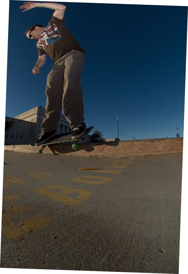 Fun experimental self-portrait at the Old High School curbs, Fallon NV. 2/10/2012